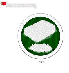 Tapai or Traditional Timor-Leste Fermented Rice vector