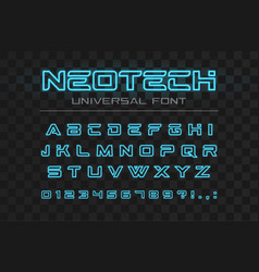 technology glowing font fast sport futuristic vector image