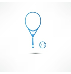 Tennis racket and ball icon vector