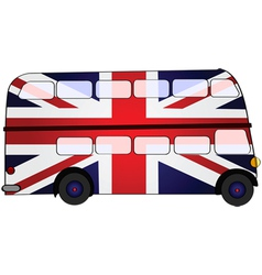 Union Jack bus vector image