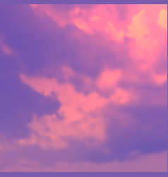 Vivid colored aesthetic sky background realistic vector