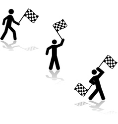 waving the race flag vector image