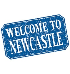Welcome to Newcastle blue square grunge stamp vector