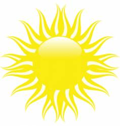 yellow summer sun vector image