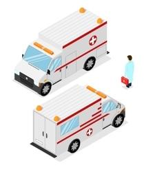 Ambulance Emergency Medical Car Isometric View vector image