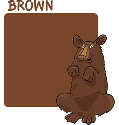 Color Brown and Bear Cartoon vector image