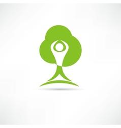 Eco man icon vector image vector image