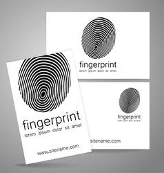 fingerprint logo identity vector image