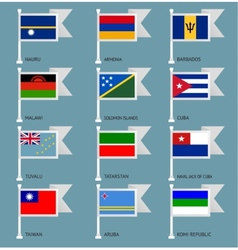 Flags set four-13 vector image