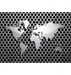 metal grill world vector image vector image