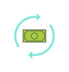 Money arrows icon concept of cash exchange vector image vector image