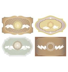 Set of vintage framed ornate labels vector image vector image