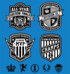 Athletic crest emblems vector image