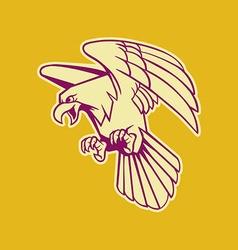 Bald Eagle Retro Color vector image