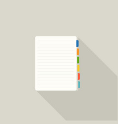 Blank note paper with colorful tags bookmark icon vector