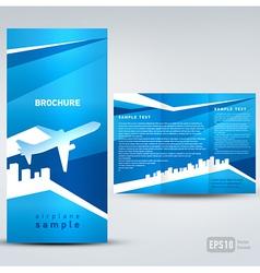 brochure airplane vector image vector image