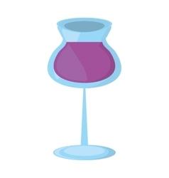 glass cup wine restaurant drink design vector image