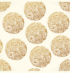 seamless tattoo pattern gold doodle vector image vector image