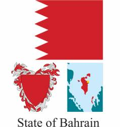 state of bahrain flag vector image vector image