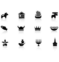 Swedish icons vector image vector image