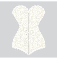 white lace corset corset vector image