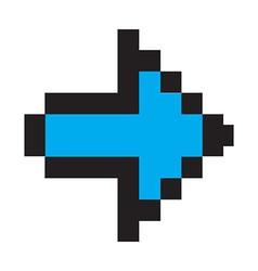 Blue arrow digital vector image