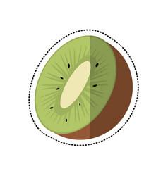 cartoon kiwi tropical fruit icon vector image vector image