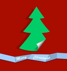 Christmas tree from paper vector image