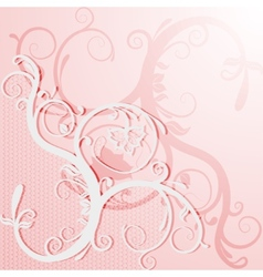 Elegant lace card or invitation vector image