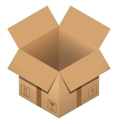 Flat carton Open box on white backgroundPost vector image