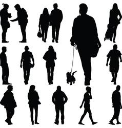 people walk vector image vector image