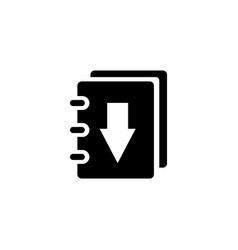book download flat icon vector image