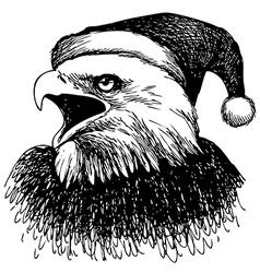 christmas eagle 1 vector image