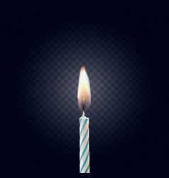 colored birthday candle isolated on a dark backgro vector image vector image