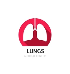 Lungs logo template isolated on white vector image vector image