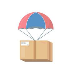 pakage box with parachute vector image