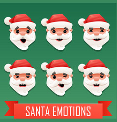 santa emotions vector image