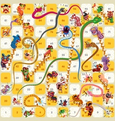 Snake and Ladder BoardGame Chinese New Year vector image vector image