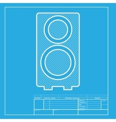 Speaker sign White section of icon vector image vector image