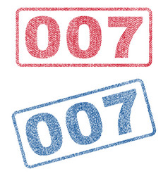 007 textile stamps vector