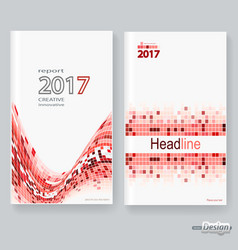 abstract poster brochure flyer design layout vector image