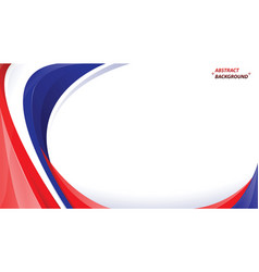 abstract red blue white background vector image
