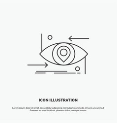 Advanced future gen science technology eye icon vector