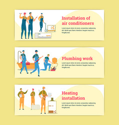 Air conditioner and water heater installation vector