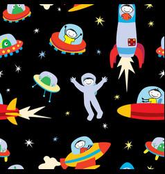 Aliens and astronauts vector