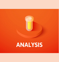 analysis isometric icon isolated on color vector image
