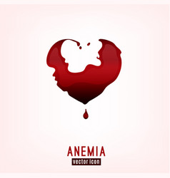 anemia icon image vector image