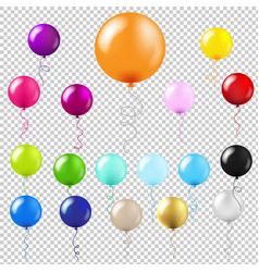 Balloons big set transparent background vector
