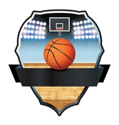 Basketball badge vector