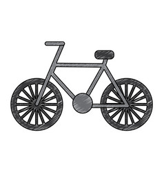 bicycle recreation travel transport icon vector image